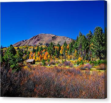 Hope Valley Rustic Barn Fall Color Canvas Print by Scott McGuire