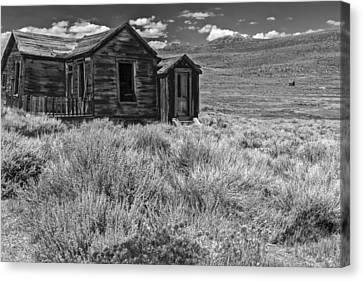 White Frame House Canvas Print - Hopeless But Standing by Jon Glaser