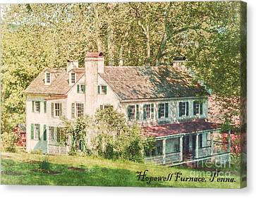 Hopewell Furnace In Pennsylvania Canvas Print by Olivier Le Queinec
