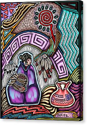 Hopi Corn Festival Canvas Print
