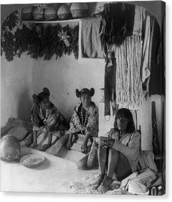 Hopi Grinding Corn, C1903 Canvas Print by Granger