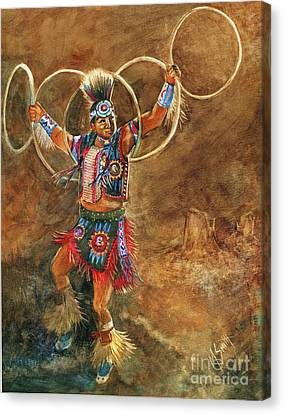 Hopi Hoop Dancer Canvas Print by Marilyn Smith
