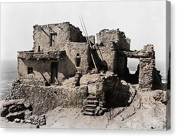 Hopi Hilltop Indian Dwelling 1920 Canvas Print by Daniel Hagerman