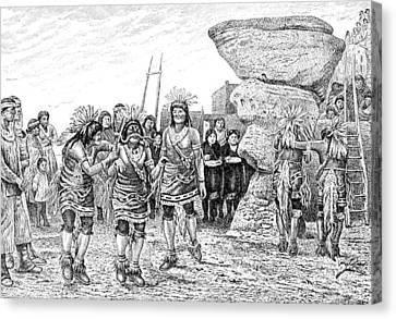 Hopi Indian Snake Dance Canvas Print