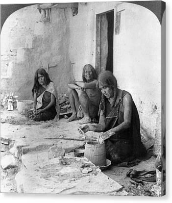 Hopi Potters, C1903 Canvas Print
