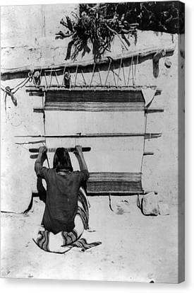 Hopi Weaving, 1879 Canvas Print