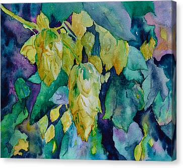 Hops Canvas Print by Beverley Harper Tinsley