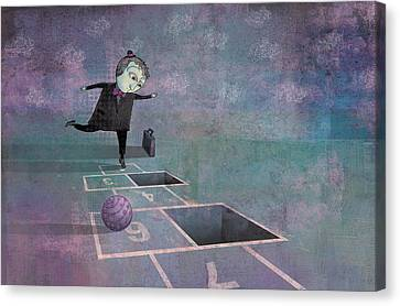 Hopscotch2 Canvas Print by Dennis Wunsch