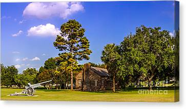 Old Cabins Canvas Print - Horace Eggleston's House - Gonzales Texas by Silvio Ligutti