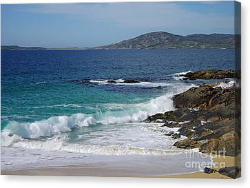 Canvas Print featuring the photograph Horgabost Beach Harris by Jacqi Elmslie