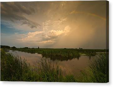 Horicon Marsh Storm Canvas Print by Steve Gadomski