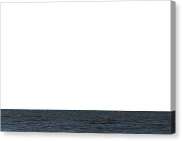 Horizon White Canvas Print