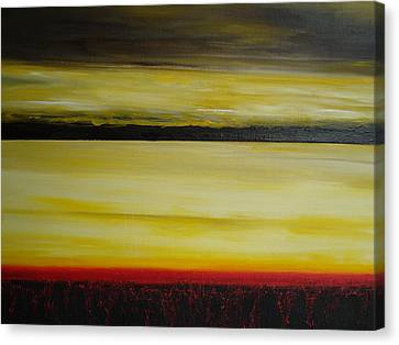 Canvas Print featuring the painting Horizons by Tamara Bettencourt