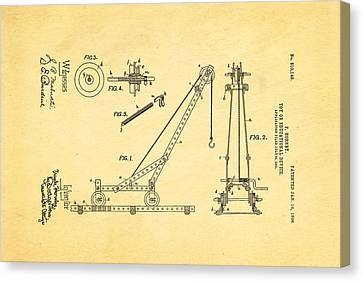 Hornby Meccano Patent Art 1906 Canvas Print by Ian Monk