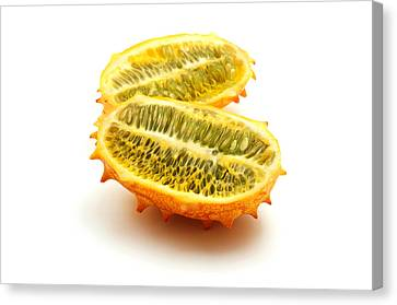 Canvas Print featuring the photograph Horned Melon by Fabrizio Troiani