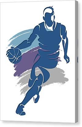 Hornets Basketball Player1 Canvas Print by Joe Hamilton