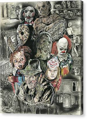 Horror Movie Murderers Canvas Print by Daniel  Ayala