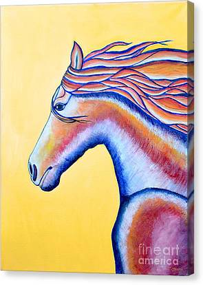 Canvas Print featuring the painting Horse 1 by Joseph J Stevens