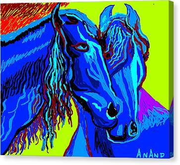 Horse-7 Canvas Print by Anand Swaroop Manchiraju