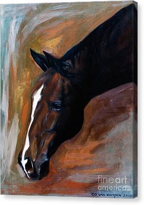 Canvas Print featuring the painting horse - Apple copper by Go Van Kampen