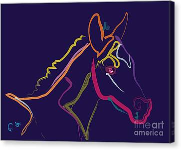Horse - Colour Filly Canvas Print by Go Van Kampen