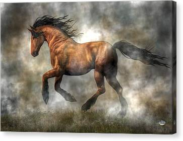 Bay Horse Canvas Print - Horse by Daniel Eskridge