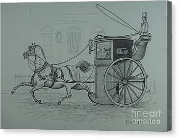 Horse Drawn Cab 1846 Canvas Print