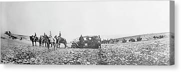 Horse-drawn Car Canvas Print by Library Of Congress