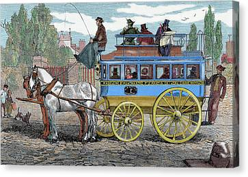Horse-drawn Omnibus Canvas Print