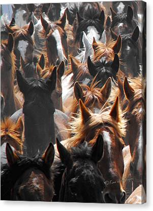 Horse Ears Canvas Print