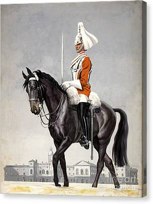 Horse Guards Parade 1939-1946 Vintage Poster Canvas Print by R Muirhead Art