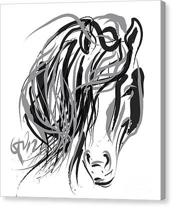 Horse- Hair And Horse Canvas Print