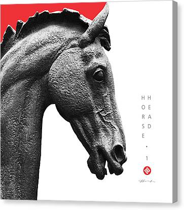 Horse Head 1 Canvas Print by David Davies