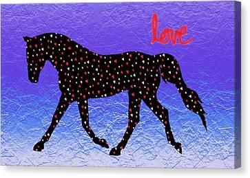 Horse Hearts And Love Canvas Print by Patricia Barmatz