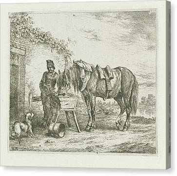 Horse In A Crib, Christiaan Wilhelmus Moorrees Canvas Print by Christiaan Wilhelmus Moorrees