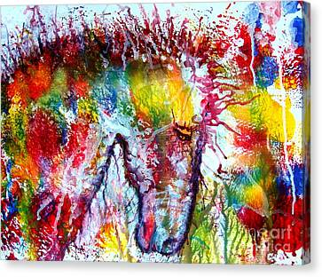 Horse In Abstract Canvas Print by Anastasis  Anastasi