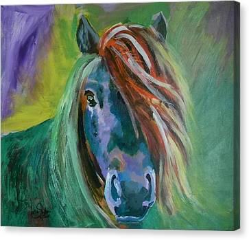Horse Canvas Print by Jolanta Shiloni