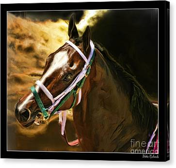Horse Last Memories Canvas Print by Blake Richards