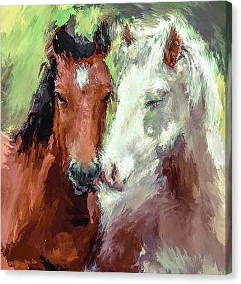 Horse Love Canvas Print by Yury Malkov