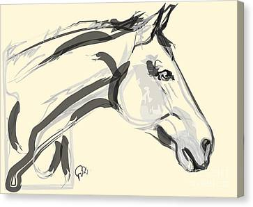 Canvas Print featuring the painting Horse - Lovely by Go Van Kampen
