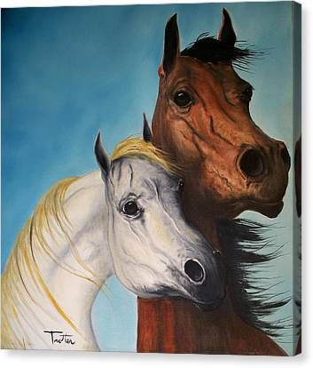 Horse Lovers Canvas Print by Patrick Trotter