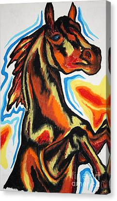Horse Of A Different Color Canvas Print by Kryztina Spence