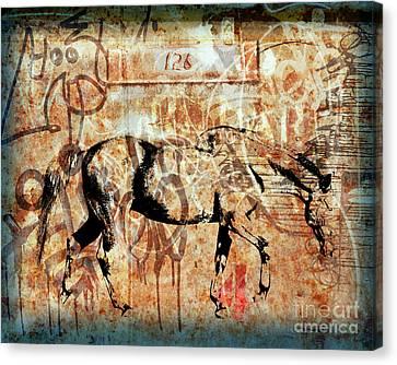 Horse One Twenty Six Canvas Print by Judy Wood