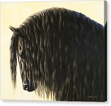 Horse Painting - Friesland Nobility Canvas Print by Crista Forest