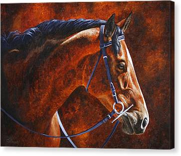Bay Horse Canvas Print - Horse Painting - Ziggy by Crista Forest