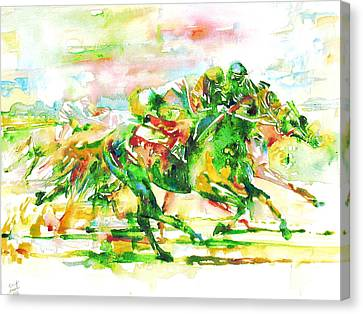 Horse Painting.10 Canvas Print by Fabrizio Cassetta