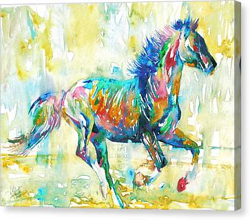 Horse Painting.11 Canvas Print by Fabrizio Cassetta