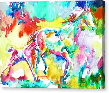 Horse Painting.15 Canvas Print by Fabrizio Cassetta