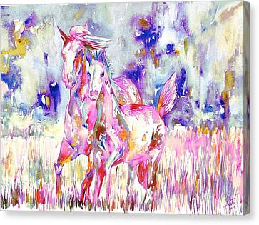 Horse Painting.16 Canvas Print by Fabrizio Cassetta