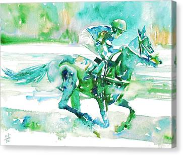 Horse Painting.18 Canvas Print by Fabrizio Cassetta